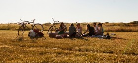 People having a picnic