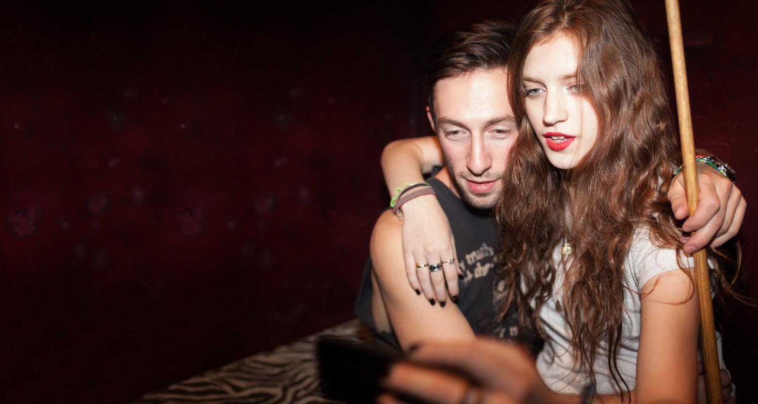 Couple take selfie