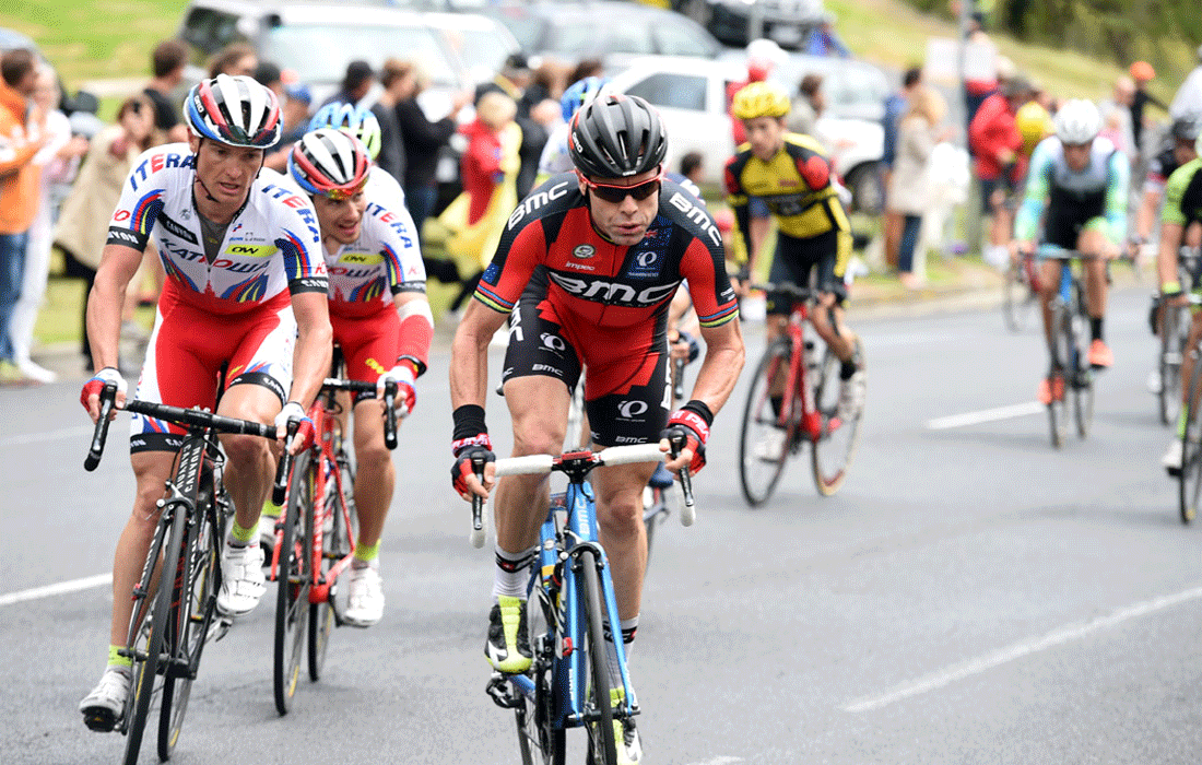 Cyclist, Cadel Evans racing