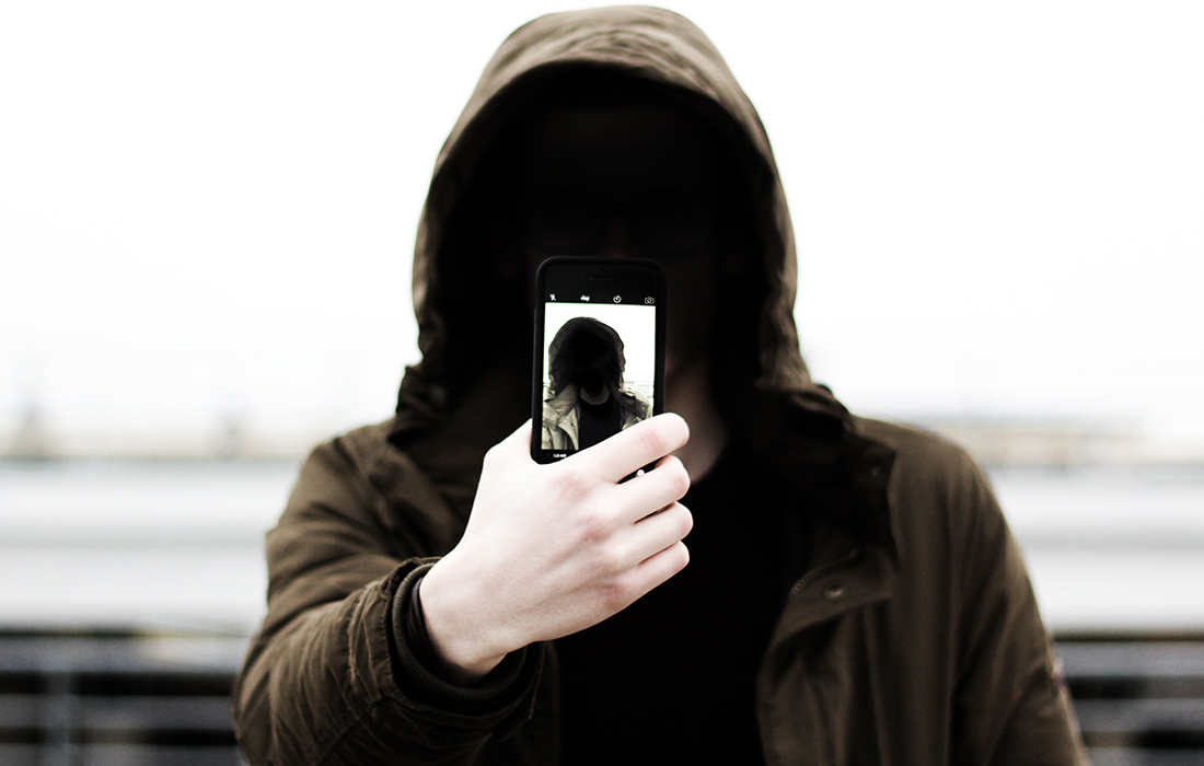 Person in a hooded jumper