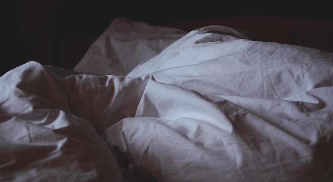 Bedsheets in the dark