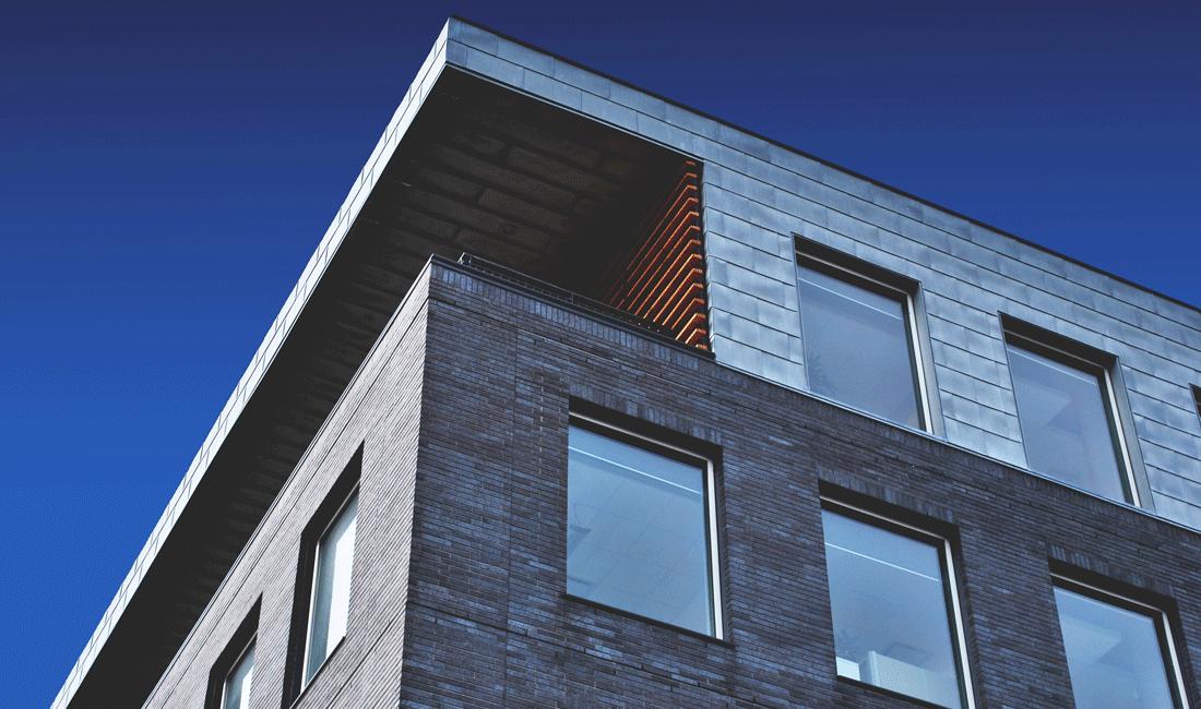 Modern house and blue sky