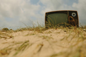 television on beach