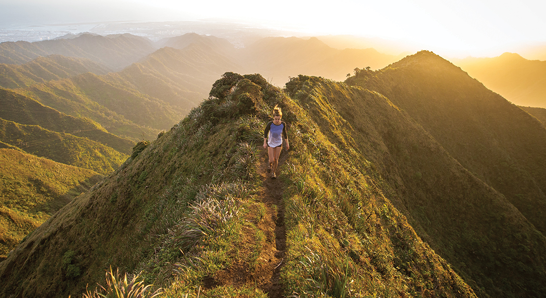 Walking hills