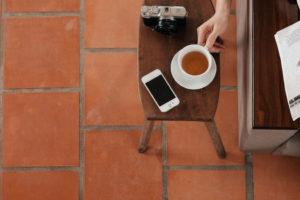 tea phone and camera