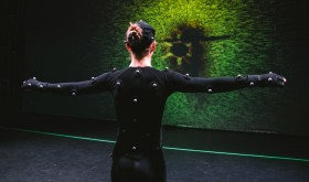 girl in motion capture suit