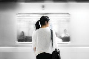 woman train