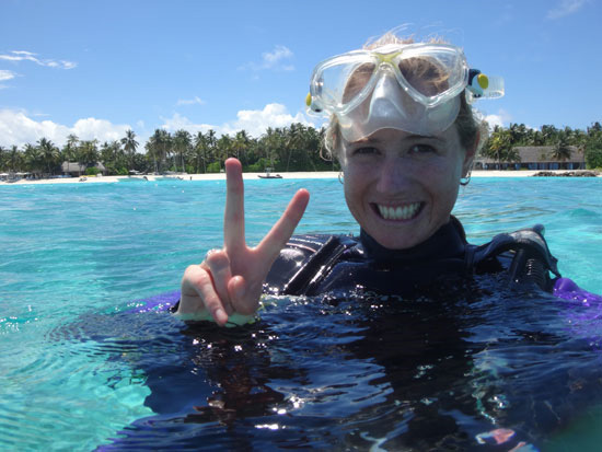 Deakin graduate Hannah Moloney working in the Maldives