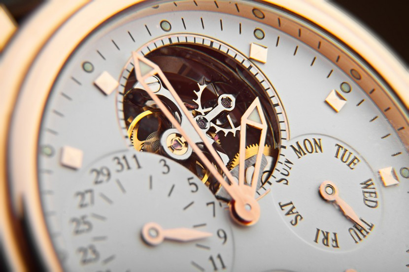 Close up of a luxury wrist watch