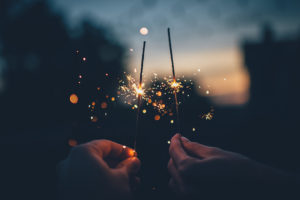 Sparklers on New Years Eve