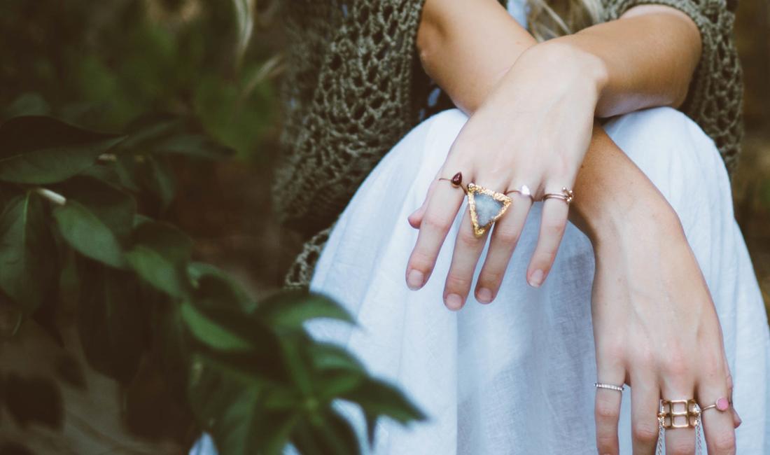 jewellery on hands