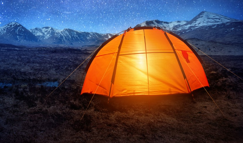 Tent under stars