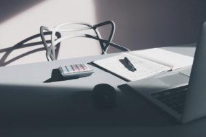 Desk in shadow