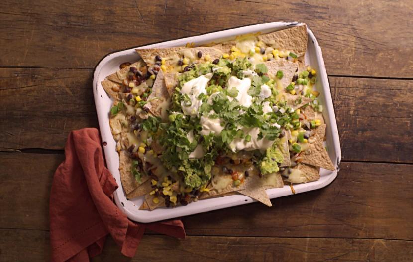 Tray of nachos