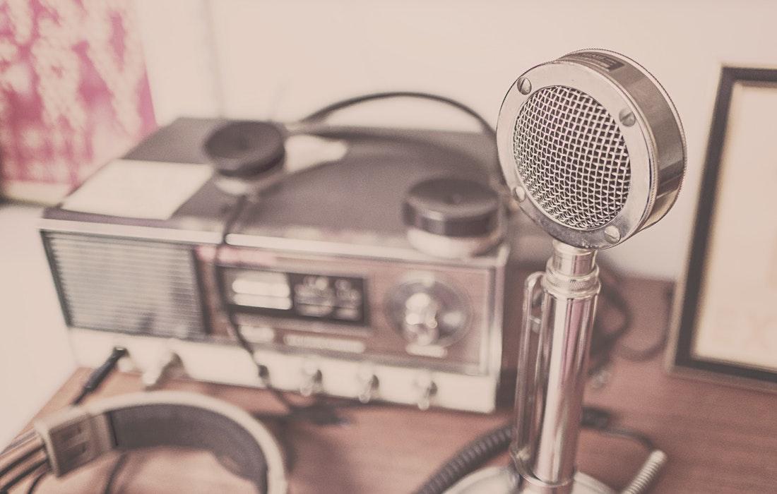 Podcast recording equipment