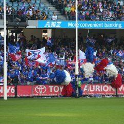 Western Bulldogs fans cheering