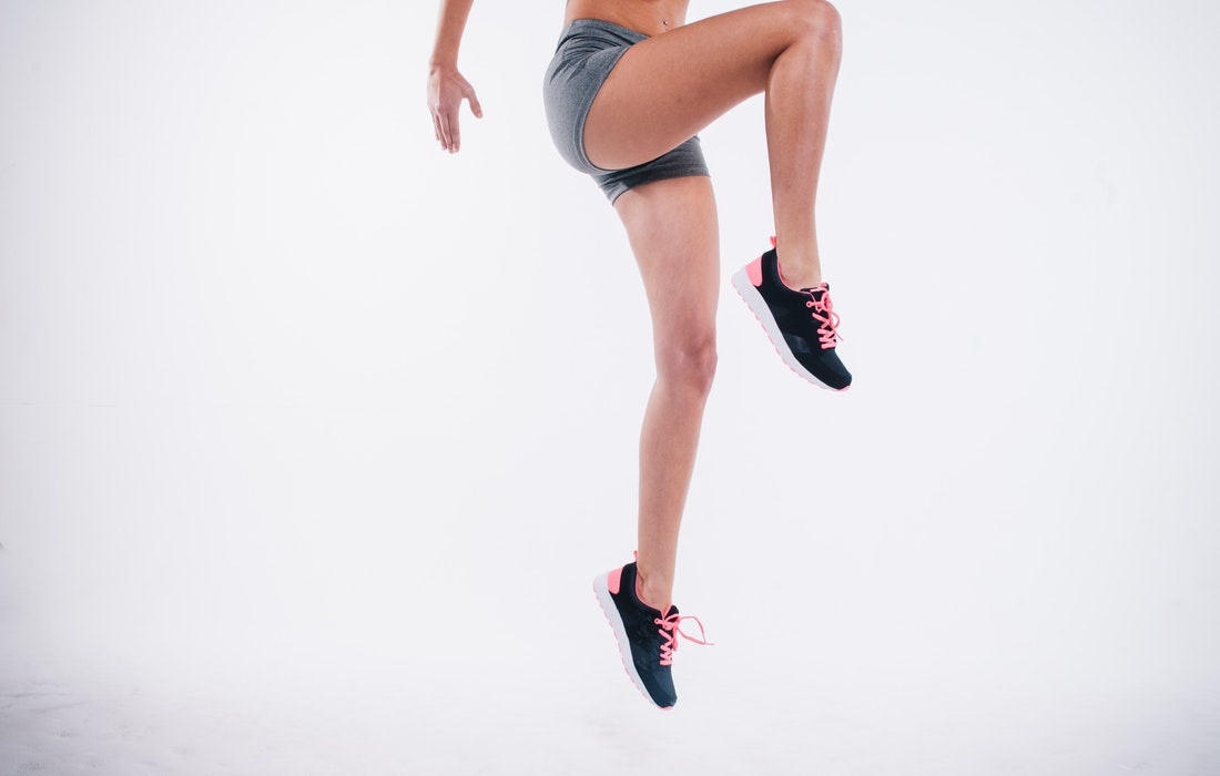 Woman jumping in a workout
