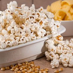 popcorn overflowing from a bowl
