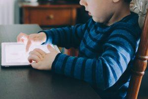 Child using an iPad