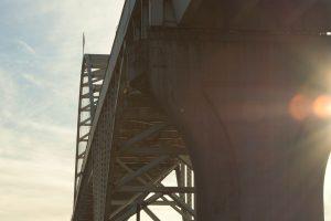 Image of a bridge taken from below