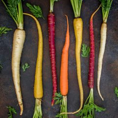 Vegetables arranged aesthetically