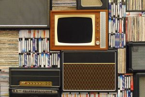 Old television, radio and records