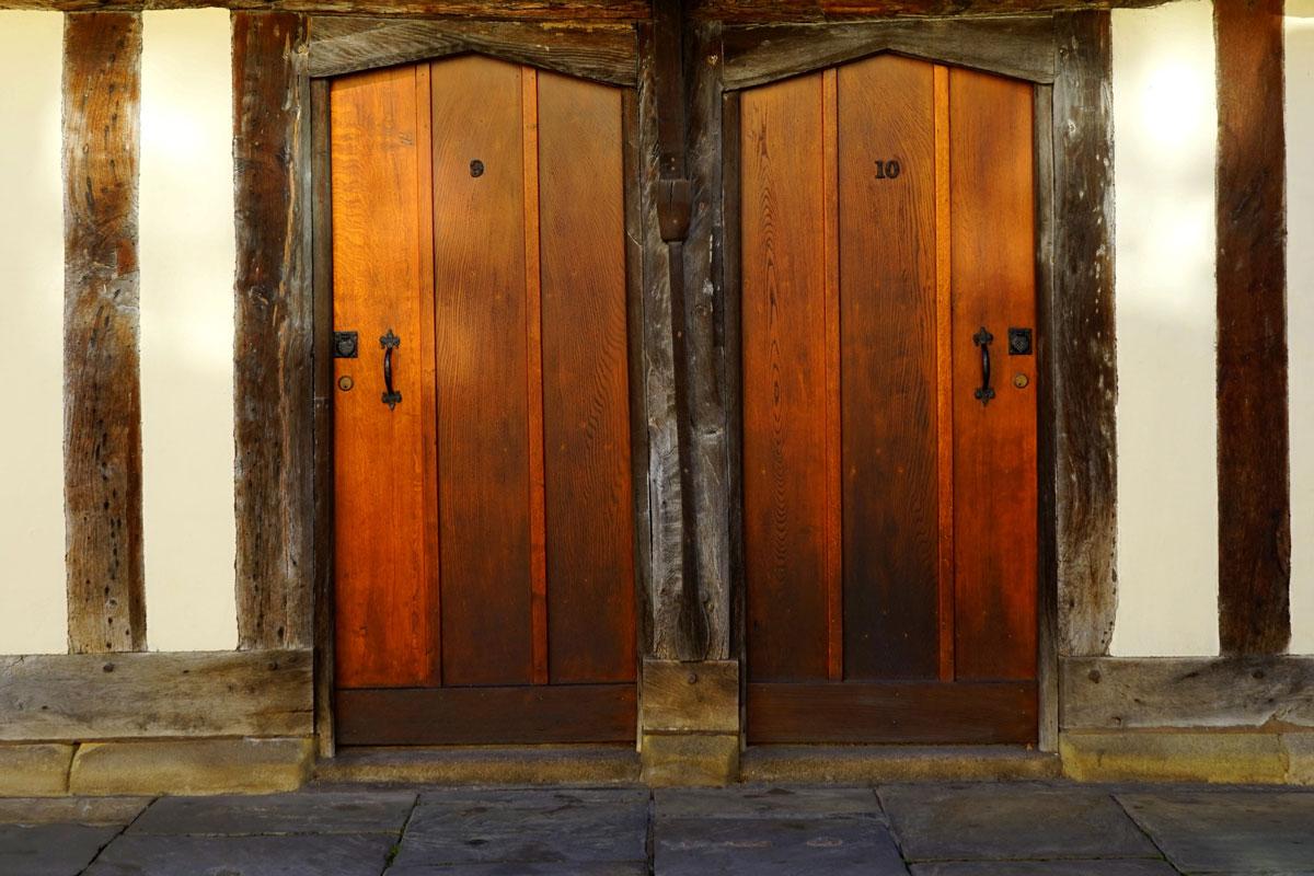 two old wooden doors