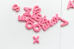 Pink alphabet letters