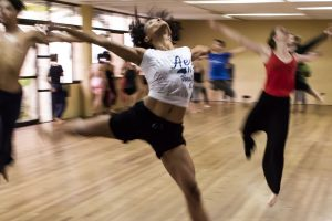 dancers dancing in a studio