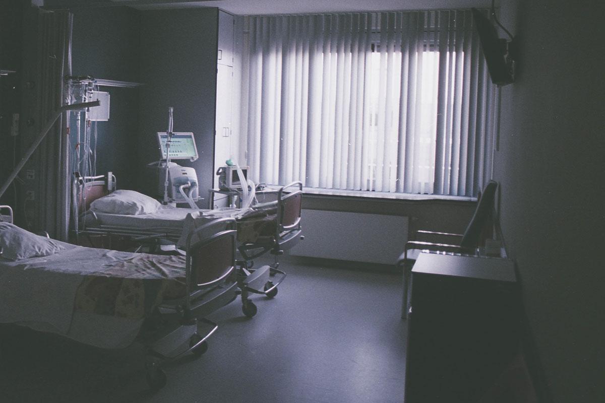 Dark hospital room