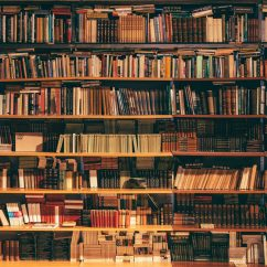 bookshelf full of books