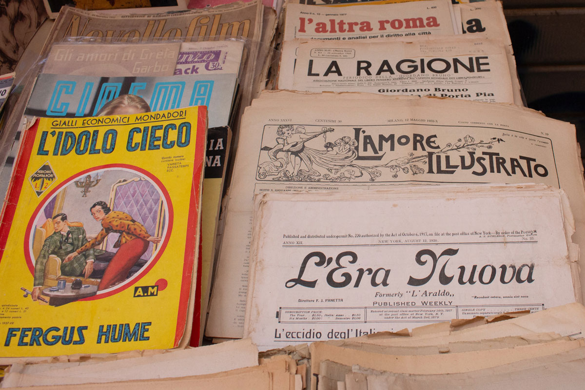 Italian magazines and newspapers