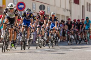 Group of male cyclists