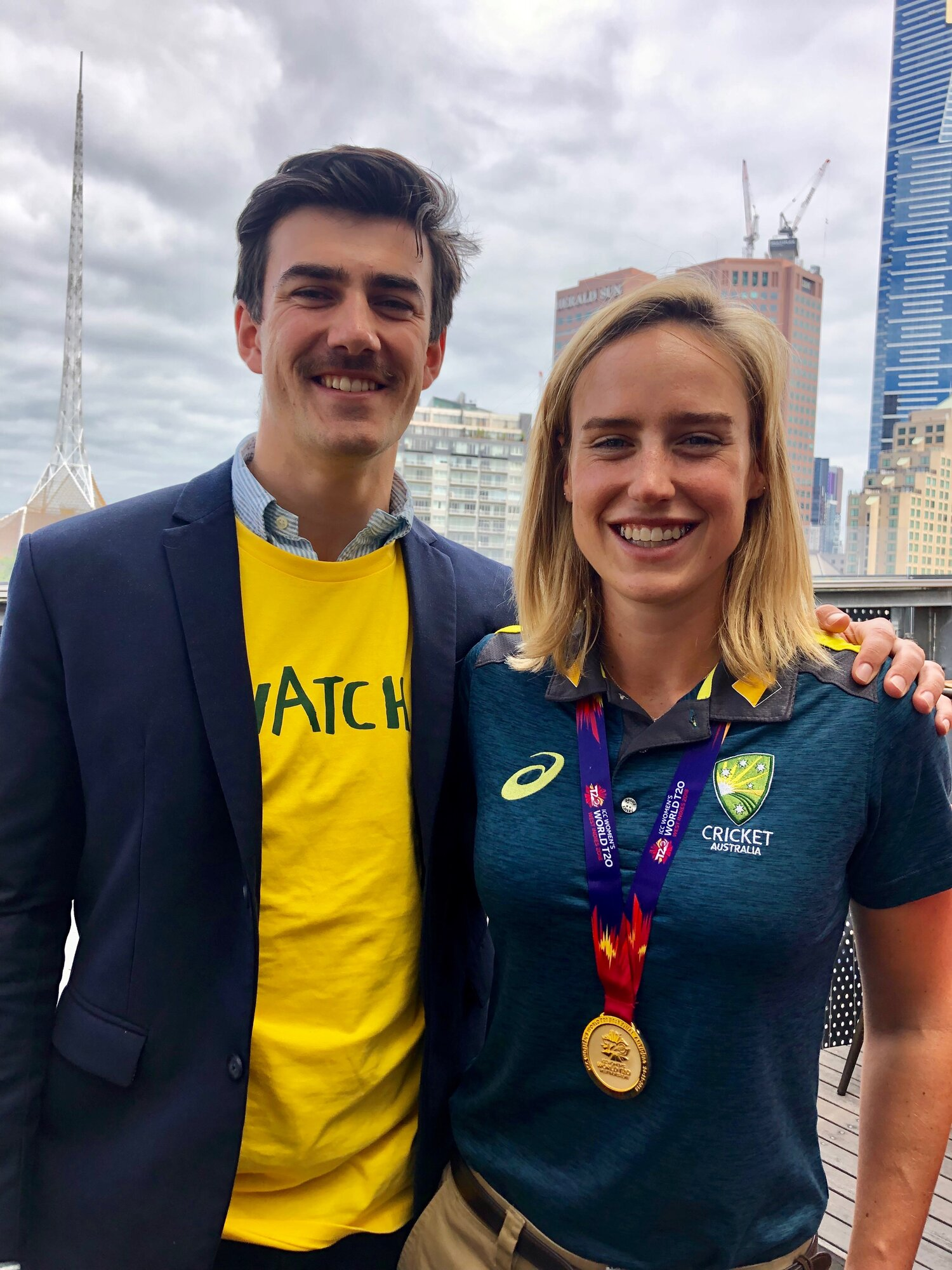 Reuben with Ellyse Perry
